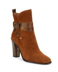 Donald J Pliner - Brown Oli Suede Booties - Lyst