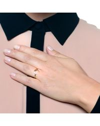 Lulu Frost | Metallic Code 14Kt Moon Ring | Lyst