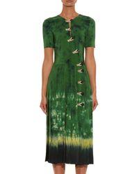 Altuzarra - Black Ilari Tie-dye Button-detail Dress - Lyst