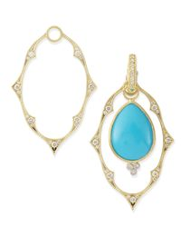 Jude Frances - Metallic Yellow Gold Moroccan Earring Frames - Lyst