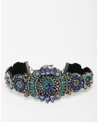 ASOS - Multicolor Peacock Beaded Choker Necklace - Lyst