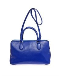Rochas | Blue Late Doublezip Leather Tote | Lyst