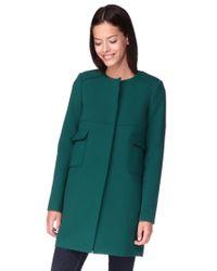 Tara Jarmon - Green Mid Coat - Lyst