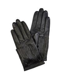 Karen Millen | Black Fringe Glove | Lyst