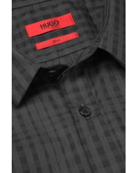 HUGO | Black 'ero' | Slim Fit, Cotton Button Down Shirt for Men | Lyst