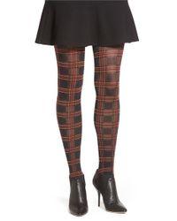 Pretty Polly | Blue Tartan Tights | Lyst
