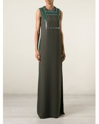 Lanvin - Green Embellished Dress - Lyst