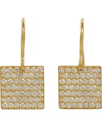 Irene Neuwirth | Metallic Square Drop Earrings | Lyst