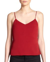 L'Agence - Red Jane Scoopback Tank Top - Lyst