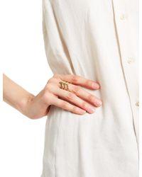 Smith/grey | Metallic Gold-plated Silver Ella Ring | Lyst