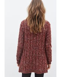 Forever 21 - Brown Marled Cable-knit Sweater - Lyst