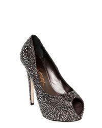 Le Silla | Silver All Over Swarovski Calfskin Pumps | Lyst