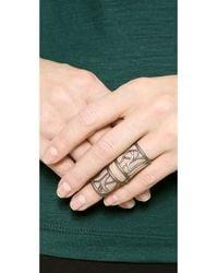 Jamie Wolf   Metallic Nycb Prodigal Diamond Ring - Silver   Lyst