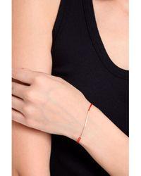 Poupette | Metallic Boxchain Silk Bracelet In Red | Lyst