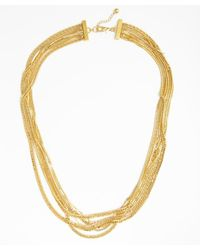 Tuleste - Metallic Gold Plated Mixed Multi-strand Long Necklace - Lyst