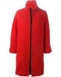 Gianluca Capannolo - Red Large Zip Coat - Lyst