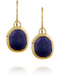 Monica Vinader | Blue Siren Goldplated Lapis Earrings | Lyst