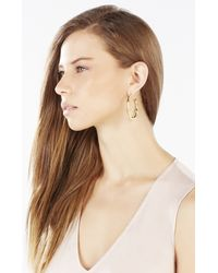 BCBGMAXAZRIA - Metallic Bamboo Hoop Earrings - Lyst