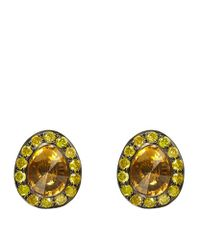 Annoushka | Orange Dusty Diamonds Citrine Stud Earrings | Lyst