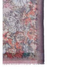 Faliero Sarti - Multicolor 'fumi' Floral Wool Blend Scarf - Lyst