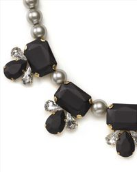 Jaeger - Gray Pearl And Crystal Necklace - Lyst
