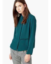 Mango - Green Flowy Shirt - Lyst