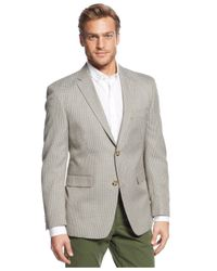 Tommy Hilfiger - Trim-fit Brown Check Sport Coat for Men - Lyst