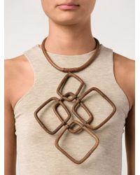 Urban Zen - Brown Oversized Link Necklace - Lyst