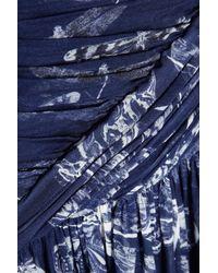 Matthew Williamson | Blue - Printed Silk-chiffon Dress - Turquoise | Lyst