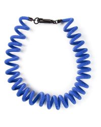 KENZO - Blue Spring Cable Necklace - Lyst