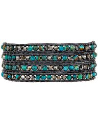 Chan Luu - Blue 32' Compressed Turquoise Crystal Wrap Bracelet - Lyst