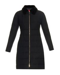 Moncler Gamme Rouge - Black Quilted-down Fur-collar Coat - Lyst