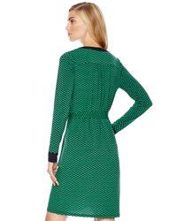 Michael Kors - Green Michael Brentwood Printed Chainneck Shirtdress - Lyst