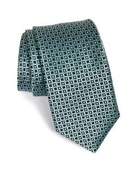 Michael Kors | Green Grid Silk Tie for Men | Lyst