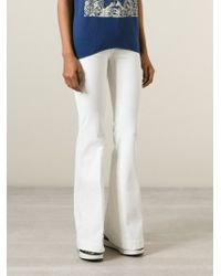 Stella McCartney - White Flared Jeans - Lyst