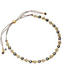 Astley Clarke | Metallic Gold-plated Labradorite Skinny Biography Bracelet | Lyst
