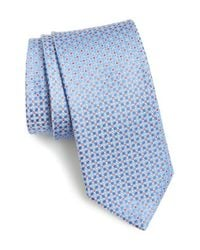 John W. Nordstrom | Blue 'bellone' Geometric Silk Tie for Men | Lyst