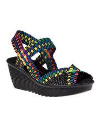 Bernie Mev - Multicolor Fame Wedge Sandal Multi Black Fabric - Lyst