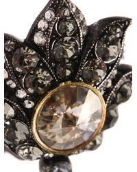Lanvin - Metallic Blanche Two Finger Ring - Lyst