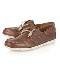 Lotus | Brown Maddox Slip On Casual Boat Shoes for Men | Lyst