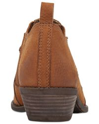 Lucky Brand | Brown Womens Joelle Cowboy Ankle Booties | Lyst