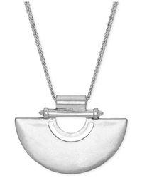 Lucky Brand | Metallic Silver-tone Semi Circle Pendant Necklace | Lyst