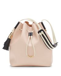 Vince Camuto - Pink Lorin Leather Bucket Bag - Lyst