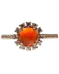 Suzanne Kalan - Orange Chalcedony And White Sapphire Starburst Ring - Lyst