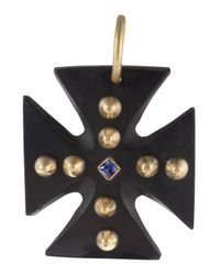 Ashley Pittman | Black Jioni Cross Pendant | Lyst