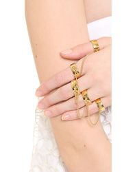 Eddie Borgo | Metallic Five Finger Ring - Gold | Lyst