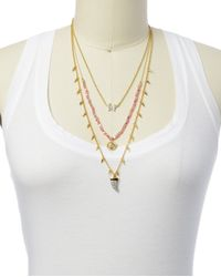 Juicy Couture | Metallic Triple Strand Charm Necklace | Lyst