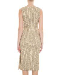 Rochas - Metallic Gold Sheath Dress - Lyst