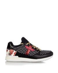 Dolce & Gabbana | Black Diamond Embossed Nylon Sneakers | Lyst