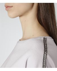 Reiss | Purple Molly Chain-detail Top | Lyst